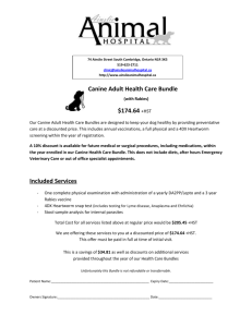 Canine Adult Health Care Bundle