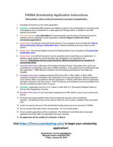 FNSNA Scholarship Application Instructions