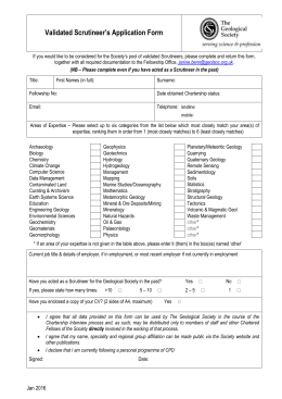 Validated Scrutineer`s Application Form