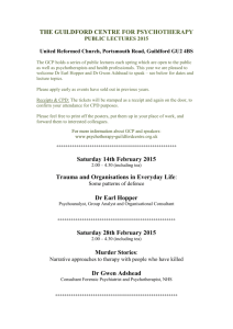the guildford centre for psychotherapy public lectures 2015