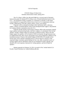 Call for Proposals: CSULB College of Liberal Arts: Scholarly