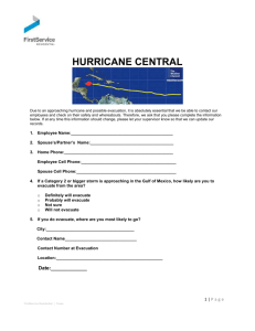 3. Hurricane Central Contact form - Procedures
