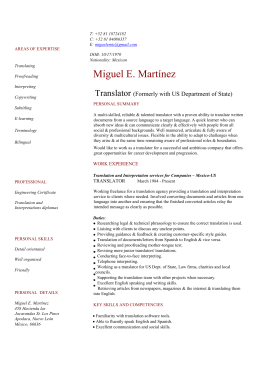 to Full CV of Miguel Martinez
