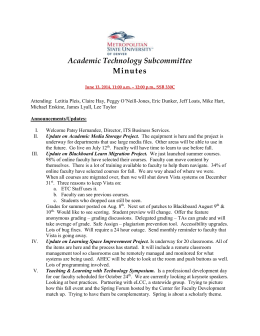 Academic Technology Subcommittee Minutes