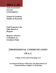 Master of Arts in Professional Communication