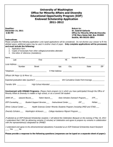 Endowed Scholarship Application