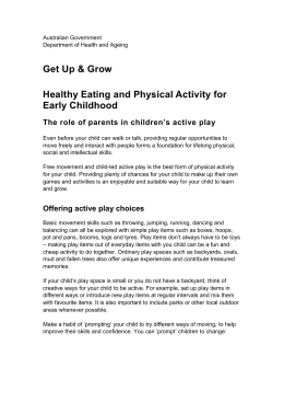 Get Up and Grow - Healthy Eating and Physical Activity for Early