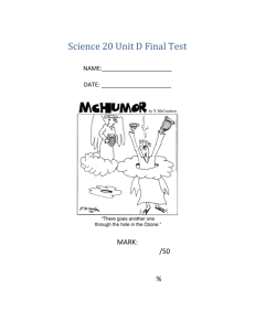 Science 20 Unit D Final Test