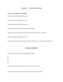 Geography First Semester Study Guide 5 Themes of Geography and