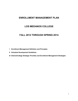 Enrollment Management Plan 2012