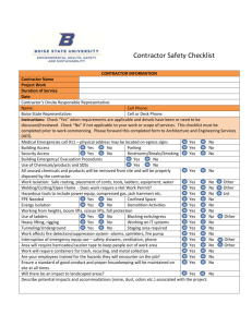 Contractor Safety Checklist