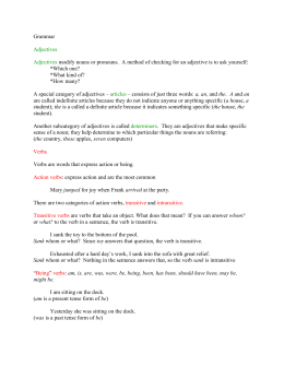 Grammar - adjectives, verbs, & adverbs