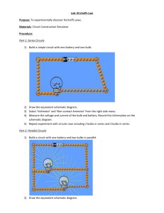 Activity 1 2 3 Electrical Circuits – Simulation Introduction