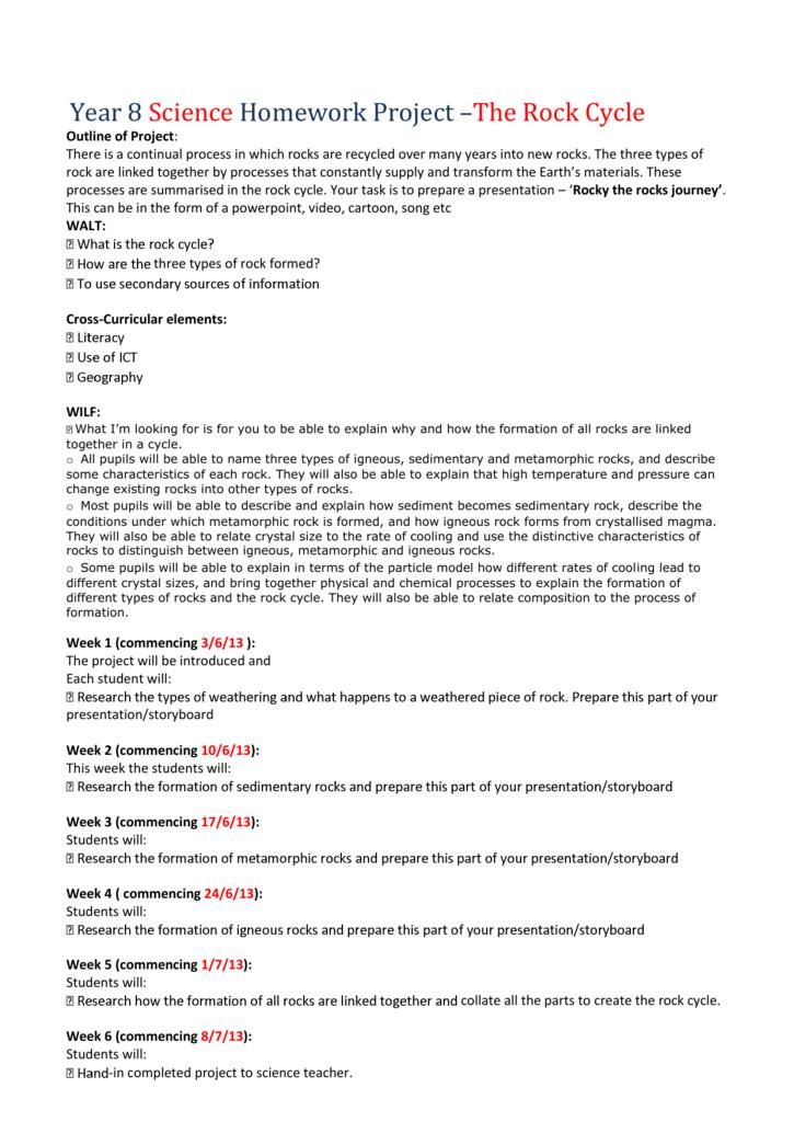 Year 8 science homework help