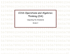 CCSS Operations and Algebraic Thinking (OA)