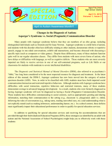 Autism Newsletter April 2014 - Agua Fria Union High School District
