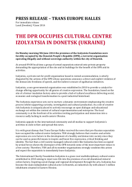 the dpr occupies cultural centre izolyatsia in donetsk
