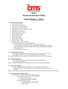 Title I Parent Involvement Policy Template