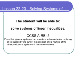 Solving System of Linear Inequalities