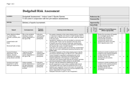 Dodgeball Risk Assessment
