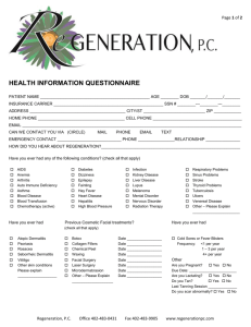 health information questionnaire