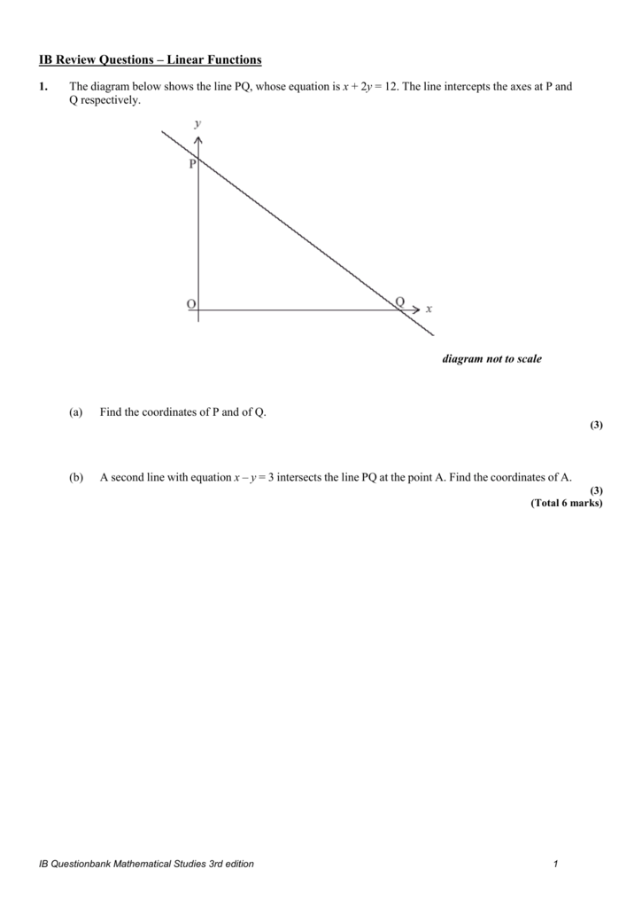 Ib review questions linear functions 1 the diagram below ccuart Images