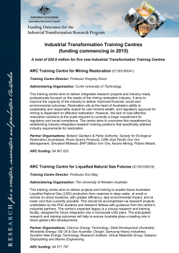 Industrial Transformation Training Centres
