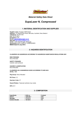 Material Safety Data Sheet Lazer N Compressed (52KB