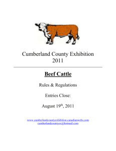 2011 Beef Rules and Regulations