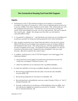 Insert - Connecticut Housing Trust Fund IDA Program