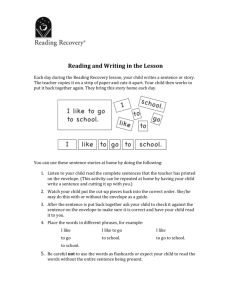 Reading and Writing in Lesson