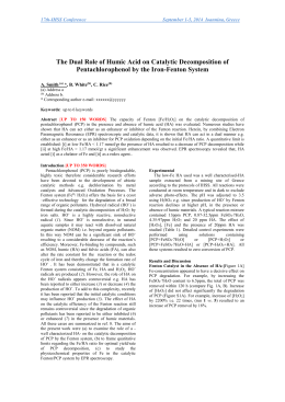 Effect of humic and fulvic acids on the photocatalytic degradation of