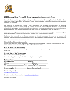 2014 Lansing Lions Football & Cheer Organization Sponsorship Form