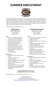 Posting for two summer student jobs