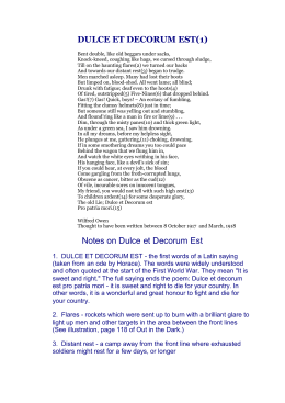 Reflective Essay Prompts Dulce Et Decorum Est Position Argument Essay Example also Sample Of An Essay Paper Dulce Et Decorum Est By Owen Essay On Violence In Schools