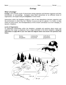 Ecology Packet