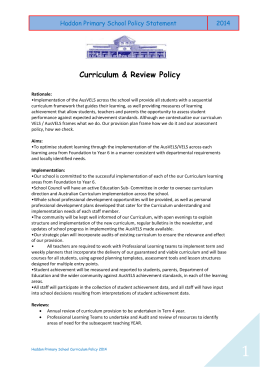 Curriculum Policy - Haddon Primary School