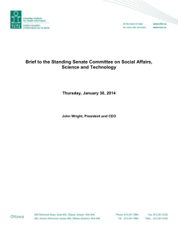 Brief to the Standing Senate Committee on Social Affairs