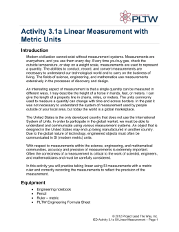 3.1a Linear Measurement with Metric Units