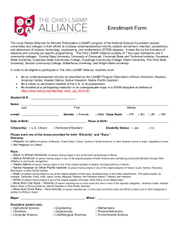 Enrollment Form - The Ohio State University