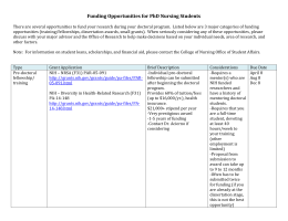 Funding Opportunities for PhD Nursing Students