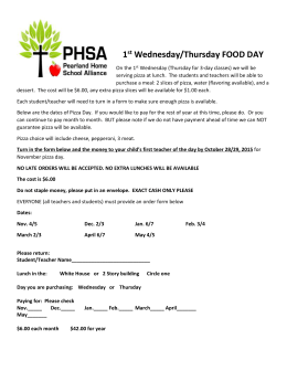 PHSA Food Day Order Form