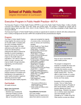 MPH Executive Program in Public Health Practice