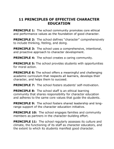 11 principles of effective character education principle 1