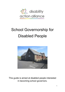School Governorship for Disabled People Guide – Word doc
