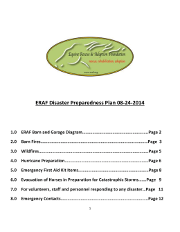 ERAF Disaster Preparedness Document revised 8-24-2014