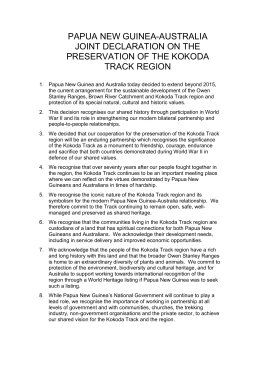 Papua New Guinea-Australia Joint Declaration on the Preservation