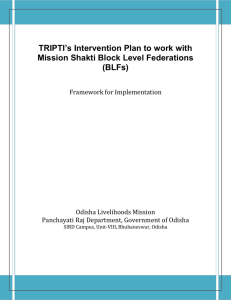 TRIPTI*s Intervention Plan to work with Mission Shakti Block Level