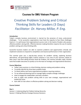 Courses for SMU Vietnam Program