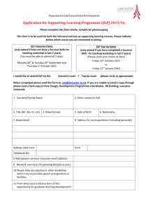 application form - Lancaster University